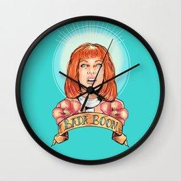 St. Leeloo of the Big Bada Boom Wall Clock