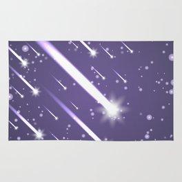 Flying meteors. Ultra violet. Rug