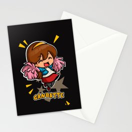 GANBATTE -BLACK Stationery Cards