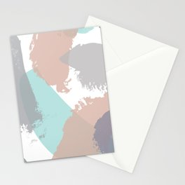 Brush strokes composition #3 Stationery Cards