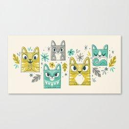 Tiki Kitty Canvas Print
