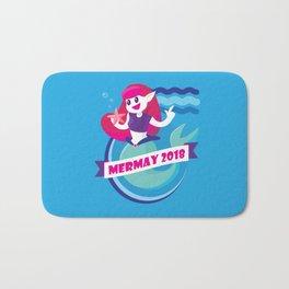 Cute Mermay Mermaid Art Challange Bath Mat