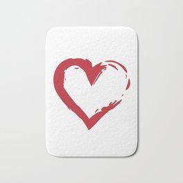Heart Shape Symbol Bath Mat