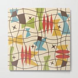 Mid Century Modern Abstract Pattern 571 Metal Print