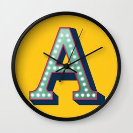 The Letter A  Wall Clock