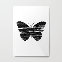 Buterfly Silouetthe Metal Print