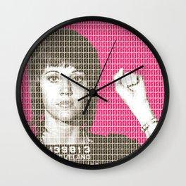 Jane Fonda Mug Shot - Pink Wall Clock