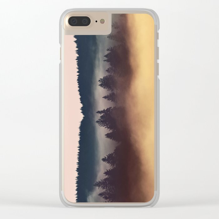 Foggy Layers Clear iPhone Case