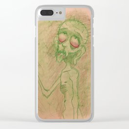 rotten man Clear iPhone Case