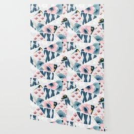 Colorful Geometric Flowers Pattern Wallpaper