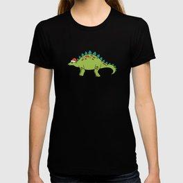Stegosaurus Santa T-shirt