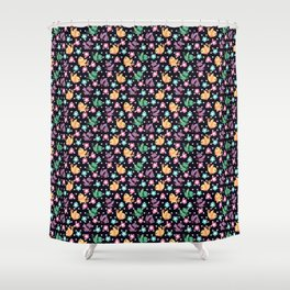 Freely Birds Flying - Fly Away Version 3 - Night Purple Color Shower Curtain