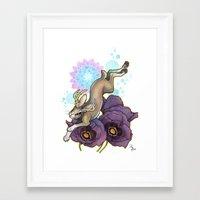 jackalope Framed Art Prints featuring Jackalope by Kiri Moth