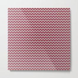 University of Alabama colors chevron zig zag minimal pattern college football sports Metal Print