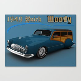 "1949 3d #Buick ""Woody"" custom. Canvas Print"