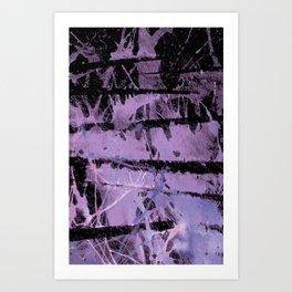 Sliced Splatter Art Print