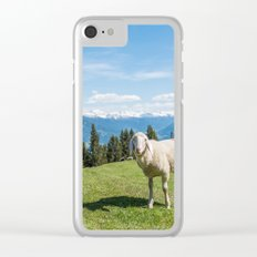 Me, the Sheeple?! Clear iPhone Case