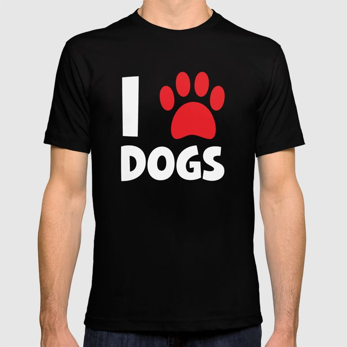 I Heart Dogs T Shirt