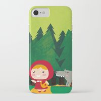 red riding hood iPhone & iPod Cases featuring Little Red Riding Hood by parisian samurai studio