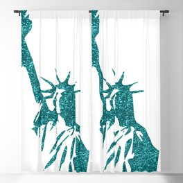 Statue of Glitter Blackout Curtain