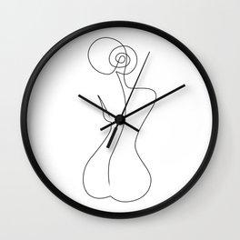 Single Back Line Wall Clock