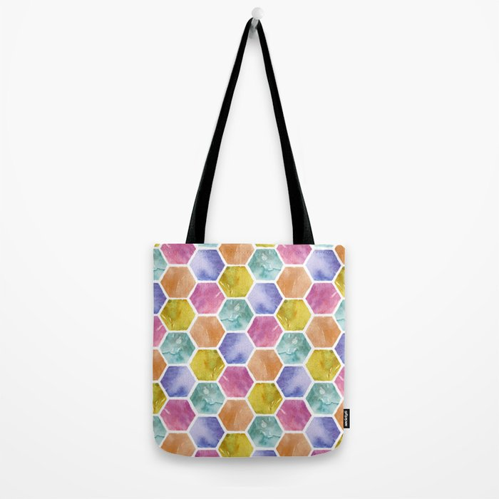 Color Hexagons Tote Bag