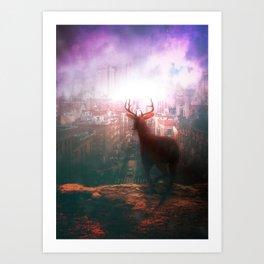 The City of Red Deer by GEN Z Art Print