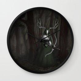 Death is a hunter Wall Clock