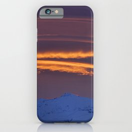 """Sunrise at the mountains"" iPhone Case"