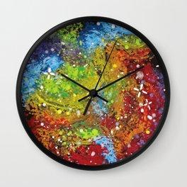 Rainbow Galaxy Wall Clock