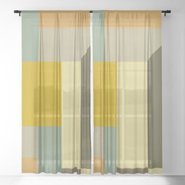 Retro Geometry IV Sheer Curtain