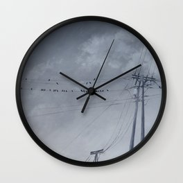 The Sky of the Man Wall Clock