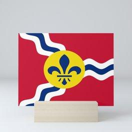 Flag of Saint Louis Mini Art Print