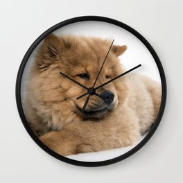Chow Chow Chilling Wall Clock