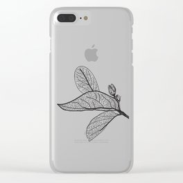Leaves contours on a white background. vector Clear iPhone Case