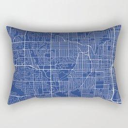 Omaha Map, USA - Blue Rectangular Pillow