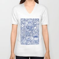 portugal V-neck T-shirts featuring Portugal collage by Kaissa Kkaissa