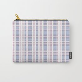 The checkered pattern . Scottish . blue , pink , white . Carry-All Pouch