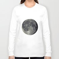 the moon Long Sleeve T-shirts featuring Moon by Pete Baker