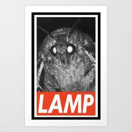 LAMP/OBEY/MOTH Art Print