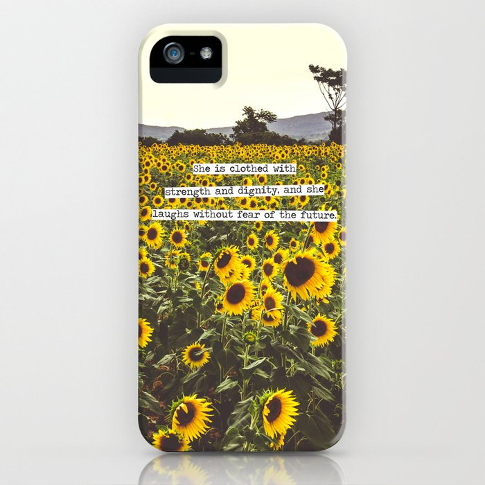 she is clothed with strength and dignity iphone case