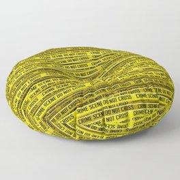 Crime scene / 3D render of endless crime scene tape Floor Pillow