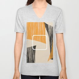 Abstract textured artwork II Unisex V-Neck