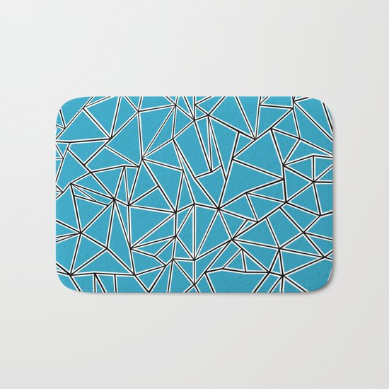 Shattered Ab Blue Bath Mat