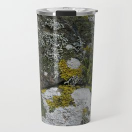 Coastal Rocks With Lichens and Ferns Travel Mug