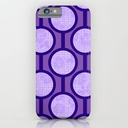 Retro-Delight - Simple Circles (Laced) - Lavender iPhone Case