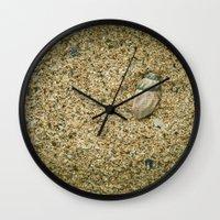 seashell Wall Clocks featuring Seashell by Errne