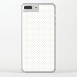 Star White Polka Dots Clear iPhone Case