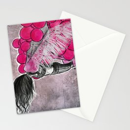 aerial yoga balloon wings Stationery Cards