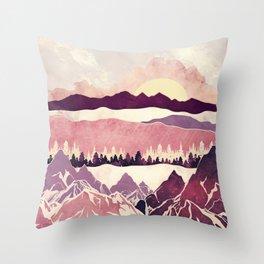 Burgundy Hills Throw Pillow
